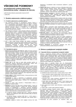 Všeobecné podmienky spoločnosti Wisper s.r.o.
