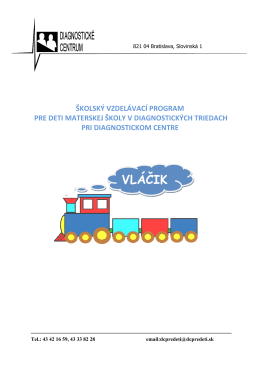 Vláčik [.pdf] - Diagnostické centrum pre deti v Bratislave