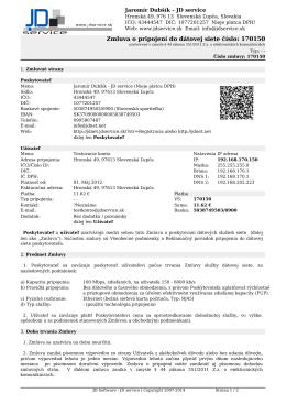 5. Vzor zmluvy o pripojení do dátovej siete [PDF]