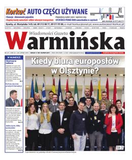 Kiedy biura europosłów w Olsztynie?