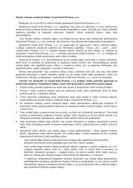 Zásady ochrany osobných údajov Grand hotel Permon, s.r.o.