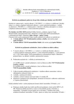 02/49 20 35 12, emai - Stredná odborná škola masmediálnych a