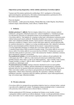 Odporúčaný postup diagnostiky a liečby kolitídy