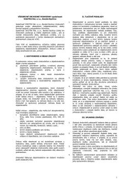 Všeobecné obchodné podmienky spoločnosti DIGITRA