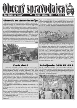 Október 2011 - Obec Skalka nad Váhom