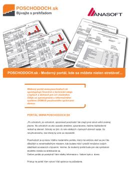 POSCHODOCH.sk - Moderný portál, kde sa môžete