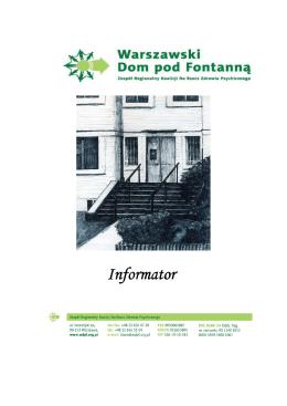 INFORMATOR WDpF - Warszawski Dom pod Fontanną