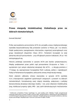 Prawa niezgody intelektualnej. Globalizacja praw na dobrach