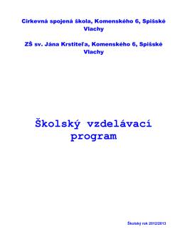 Školský vzdelávací program - Základná škola sv. Jána Krstiteľa