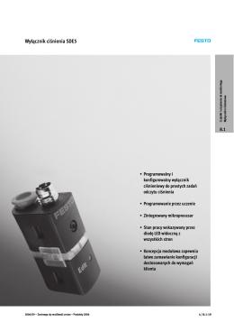 Wyłącznik ciśnienia SDE5