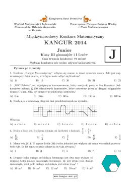 Junior (format PDF) - Kangur Matematyczny
