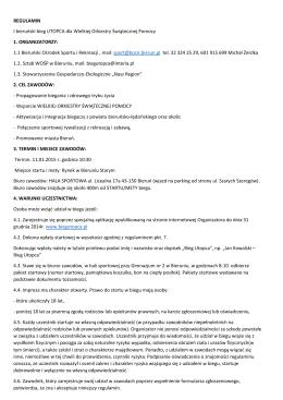 Regulamin - 1 bieruński bieg UTOPCA