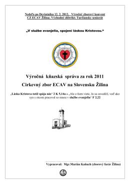 Kňazská správa za rok 2011, M.Kaňuch