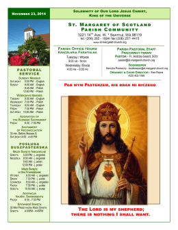 St. Margaret of Scotland Parish Community The Lord is my shepherd