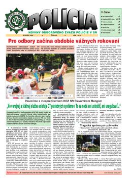 policia 6/2014 - Odborový zväz polície v Slovenskej republike