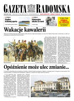 Gazeta Radomska - Wyższa Szkoła Handlowa