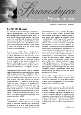 Spravodajca občianskeho združenia Fórum života 2/2007 (pdf, 503 kB)