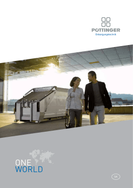 Program catalogue One World - Pöttinger Entsorgungstechnik GmbH