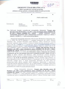Územného plánu SR Bratislavy ...., zmeny a doplnky 05