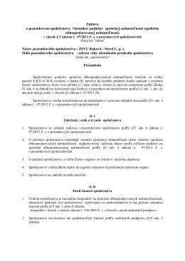 Zmluva o pozemkovom spoločenstve vlastníkov podielov spoločnej