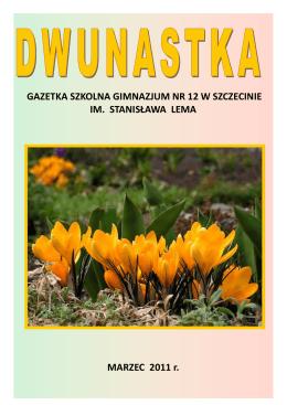 MARZEC 2011r. - Gimnazjum nr 12 w Szczecinie