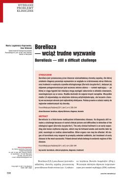 Borelioza - wciąż trudne wyzwanie by M.Legatowicz