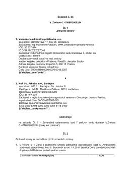 Dodatok 24 k zmluve 47NSP2000214
