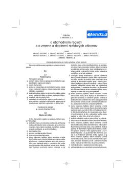 zákona č. 530/2003 o obchodnom registri