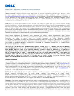 stiahnuť PDF - Dell Backup and Recovery