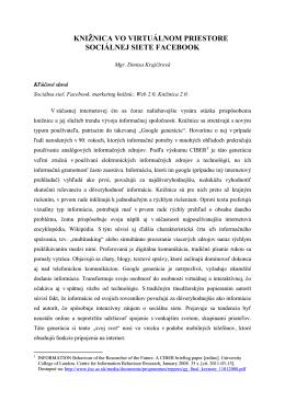 Príspevok - Štátna vedecká knižnica v Banskej Bystrici