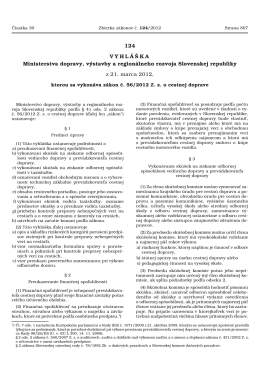 Čiastka 30/2012 (124) - Ministerstvo dopravy, výstavby a
