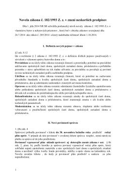 Novela zákona č. 182/1993 Z. z. v znení neskorších predpisov