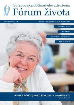 Spravodajca občianskeho združenia Fórum života 1/2012 (pdf, 637 kB)