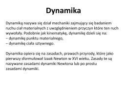 Dynamika - Mechanicznie