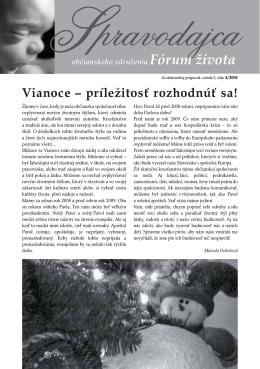 Spravodajca občianskeho združenia Fórum života 4/2008 (pdf, 339 kB)