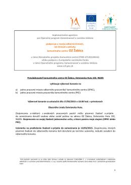 Implementačná agentúra pre Operačný program Zamestnanosť a