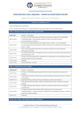 ogólnopolska konferencja naukowa_program