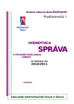 Správa o výchovno-vzdelávacej činnosti vo formáte PDF