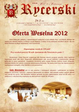 Oferta Weselna 2012
