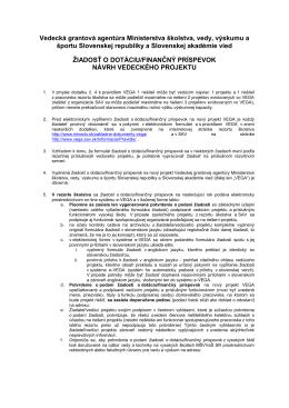 Pokyny - Ministerstvo školstva SR