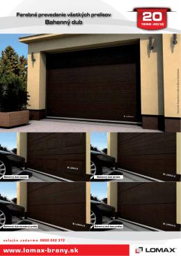 Farebné prevedenia všetkých prelisov garážových brán