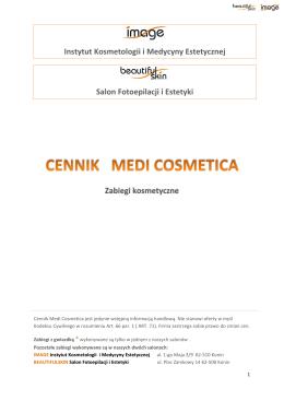 Zabiegi kosmetyczne Instytut Kosmetologii i Medycyny Estetycznej