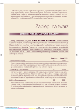 Zapisz plik PDF - Salon Spa Warszawa