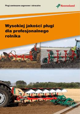 Wysokiej jakości pługi dla profesjonalnego rolnika