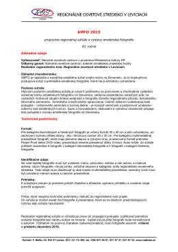 AMFO 2015 - Regionálne osvetové stredisko v Leviciach