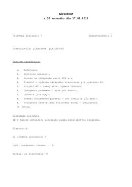 Zápisnica z OZ konaného dňa 17.2.2011