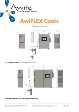 AwiFLEX Cool+ - AWITE Bioenergie GmbH