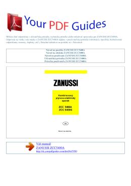 Návod na používanie ZANUSSI ZCC5400A