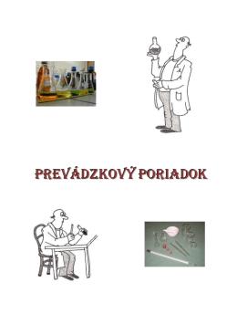 Vnútorný poriadok pre laboratórium chémie