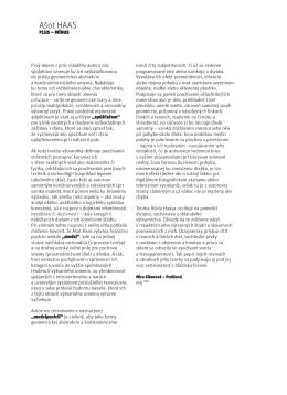 Curator text by Mira Sikorová – Putišová 2011